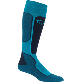 Icebreaker Ski+ Light OTC Socks Women arctic teal-midnight navy-kingfisher